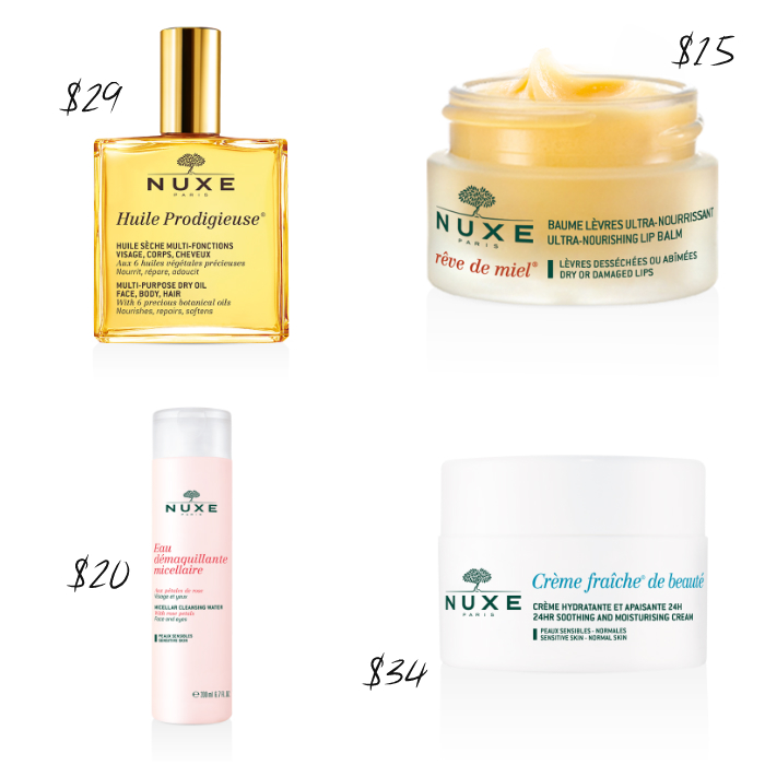 Nuxe French pharmacy beauty brands 4 best-sellers