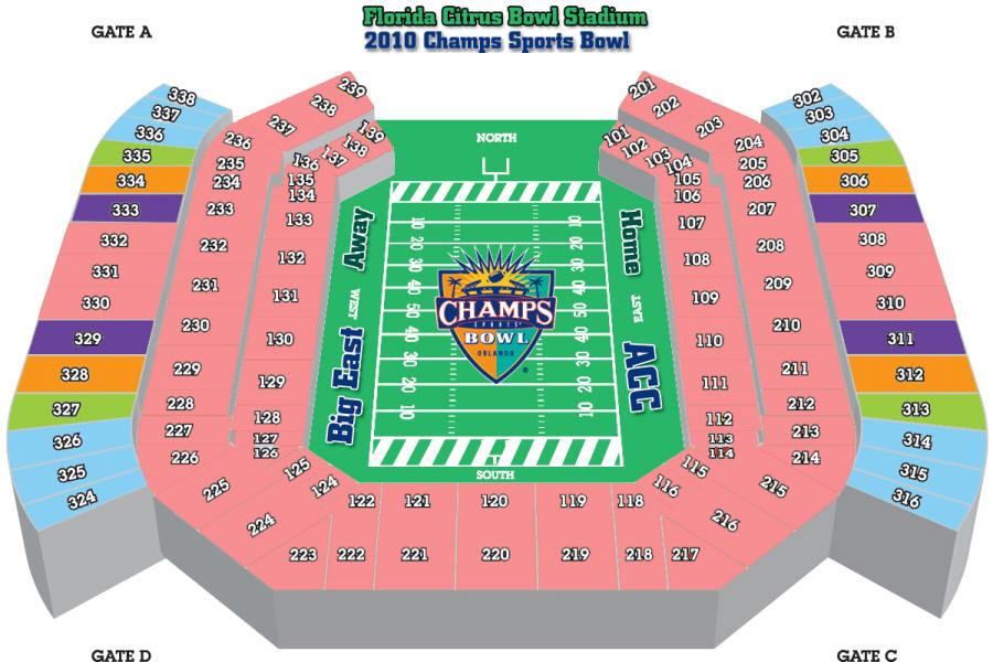 citrus bowl seating chart - Camping World Stadium A View From My Seat