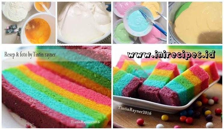 Rainbow Cake Kukus ala Ny. Liem. Mudah dan Praktis Cukup Pakai 1 Loyang!..