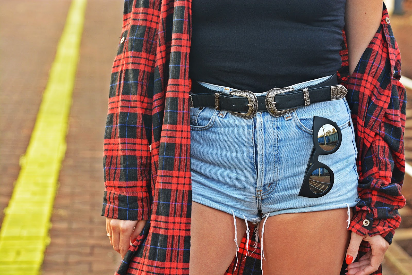 choker_high_waist_shorts_plaid_shirt_karyn_167q