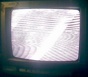 pada tv ini memang cuma tampilan layar saja yang terlihat ibarat bergelombang serta berg TV Akari Sakura 14 Gambar Bergaris dan Bergelombang