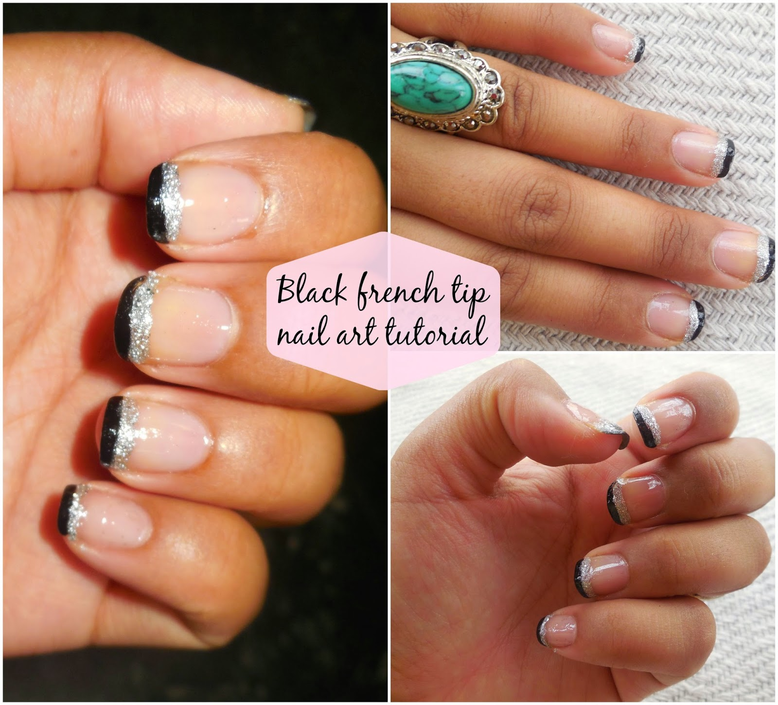 How To : Black French Tip Nail Art Tutorial