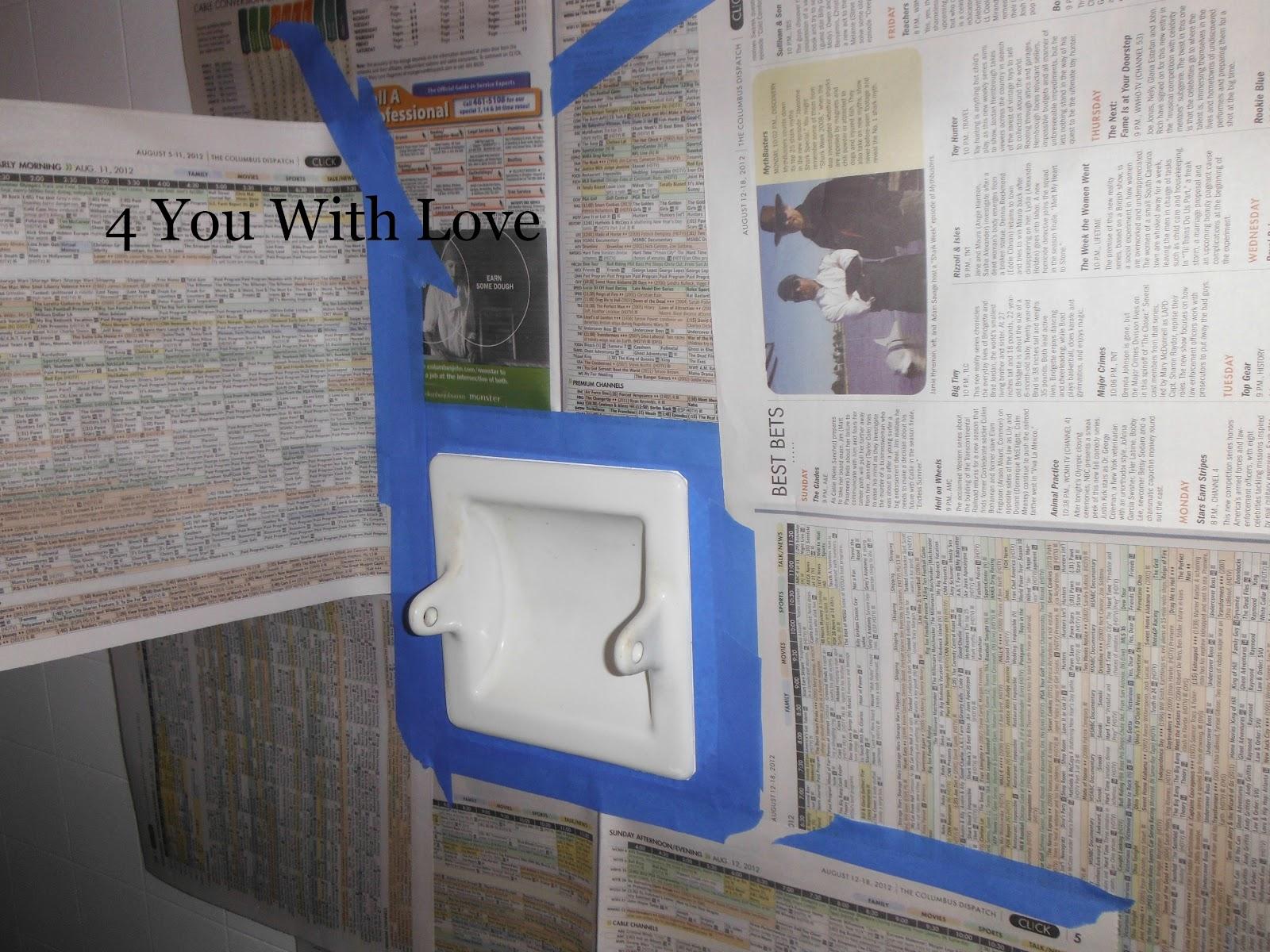 Painting Porcelain Bathroom Fixtures