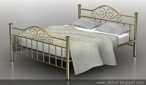 free 3d model railing bed