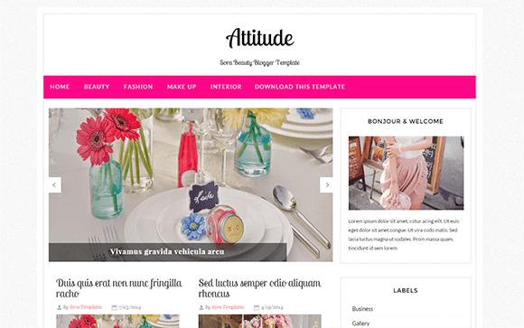 Attitude Blogger Template