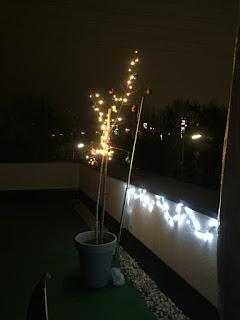 weihnachtliche Terrassen