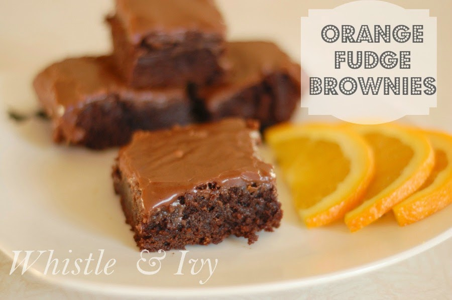 Orange Brownies with Orange Fudge Frosting Dessert