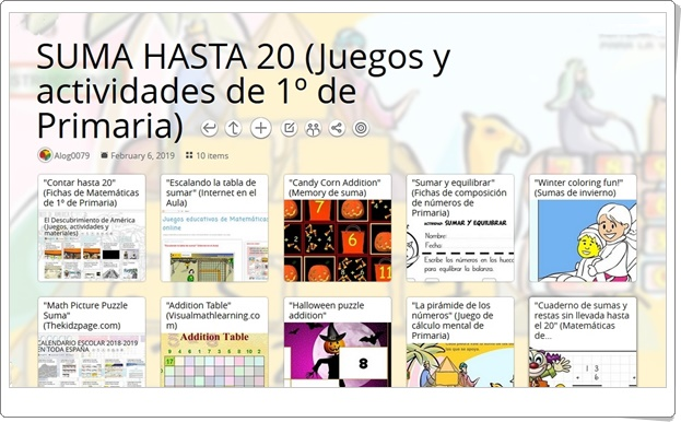 """""""10 juegos y actividades para la práctica de LA SUMA HASTA 20 en 1º de Primaria"""""""
