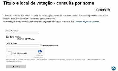 título e o local de votação
