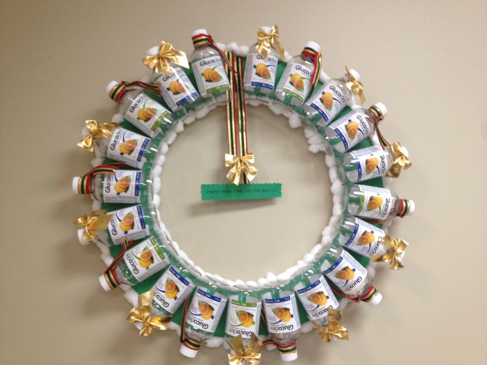 "The Purple Quiltapotamus: Adorable ""Medical"" Christmas Wreaths"