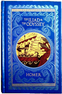 Blue cover of Homer Iliad Odyssey
