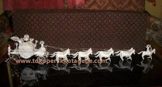 miniatur kereta kencana silver