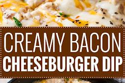 Creamy Skillet Bacon Cheeseburger Dip