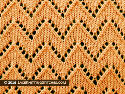 Lace Knitting. #26 Chevron Knitted Lace stitch