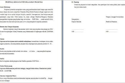 Contoh Proposal Kegiatan Penjelajahan Pramuka [doc]