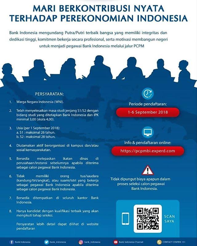 Lowongan Kerja Bank Indonesia (Bank BI) Tahun 2018 Besar Besaran