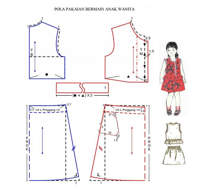 Pola Busana Bermain Anak Wanita Model 1