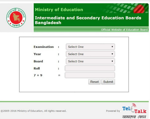 www.educationboardresults.gov.bd Jsc result 2016