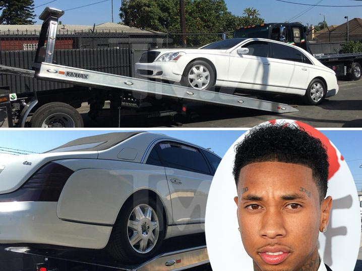 TMZ is reporting that Tyga's $2.2m Maybach has been seized due to debt