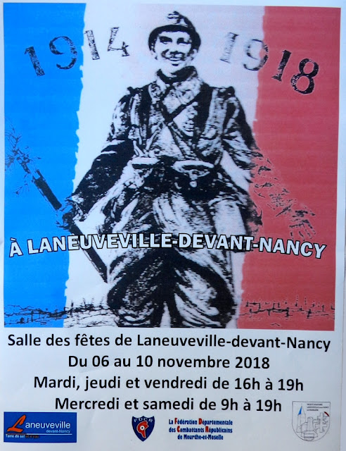 "LANEUVEVILLE-DEVANT-NANCY (54) - Exposition ""1914-1918 à Laneuveville-devant-Nancy"" (6-10 nov. 2018)"