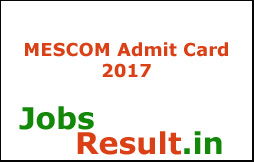 MESCOM Admit Card 2017