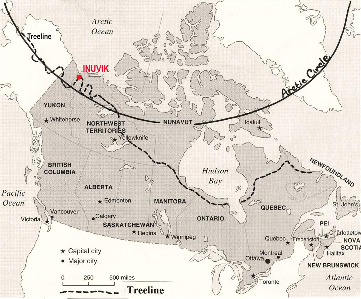 Arctic Line : Ultima thule inuvik and iqaluit tale of two cities