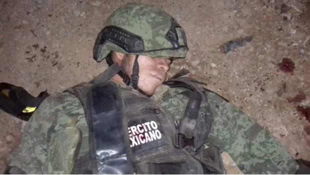 Enfrentamiento en Teloloapan deja 8 Sicarios y un Militar muertos