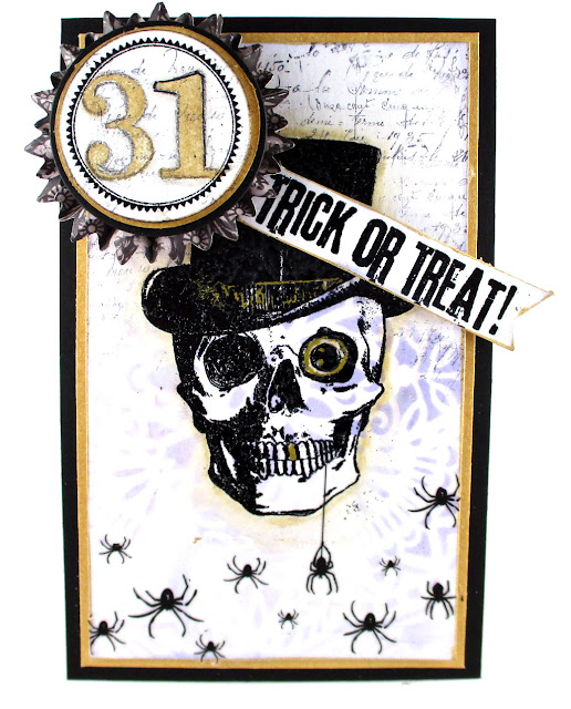Stampers Anonymous Mr. Bones Stampers Anonymous mini Halloween 3 Stampers Anonymous Merchant Idea-ology Remnants Tim Holtz Rubs For the Funkie Junkie Boutique