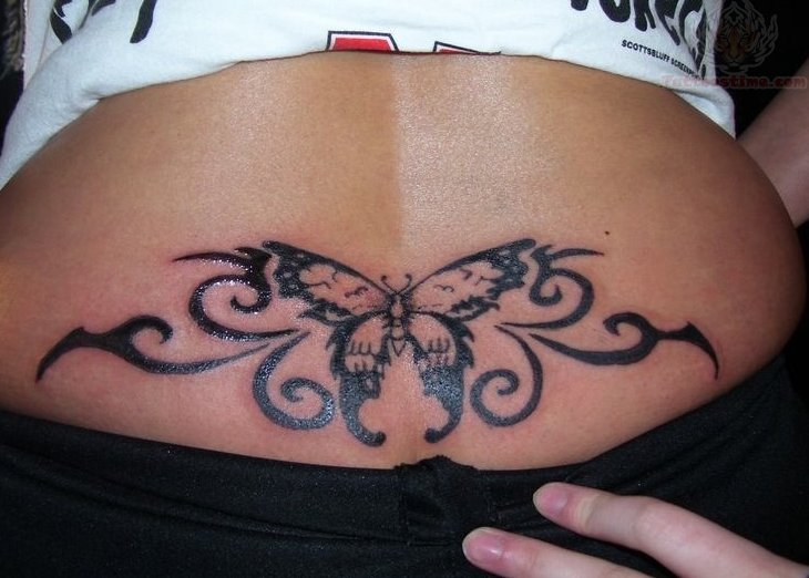 Tattoos Back Tattoos: Tribal Lower Back Tattoos Designs