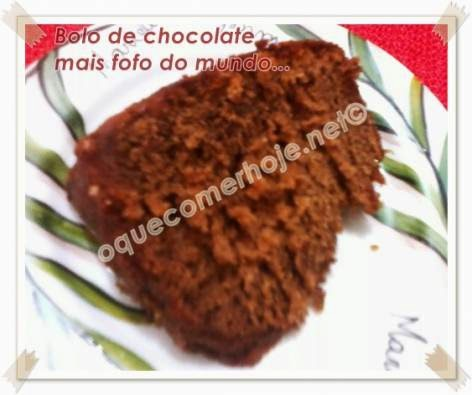 Bolo de chocolate mais fofo do mundo Receita