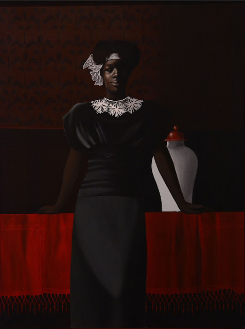 Jorge Severino. Black girl dressed in black. 1988