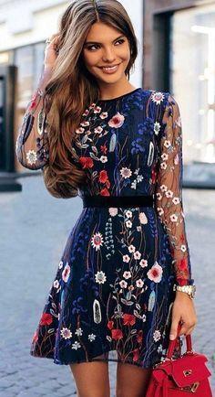moda com vestido floral