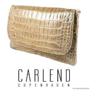 Princess Mary Style - Carlend Copenhagen Vanessa Original Croco Clutch bag