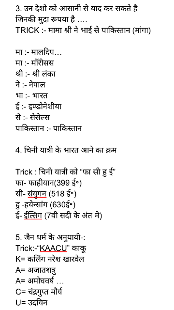 history gk tricks in hindi pdf download