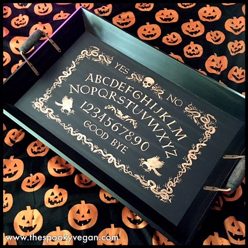 the ouija board serving tray is amazing it is so big really heavy and just