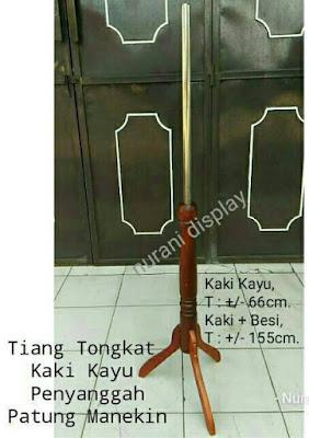 Tiang tongkat Kaki Kayu patung manekin