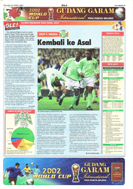 ROAD TO WORLD CUP 2002 NIGER TEAM PROFILE