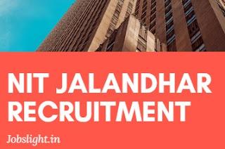 NIT Jalandhar Recruitment 2017