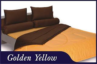 Sprei & Bedcover Shyra Polos - Golden Yellow
