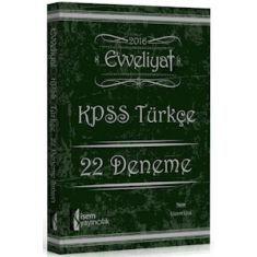 İsem Yayınları KPSS Evveliyat Türkçe 22 Deneme (2016)