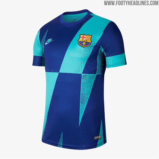 huge discount c2103 100aa FC Barcelona 19-20 Champions League Pre-Match Shirt ...