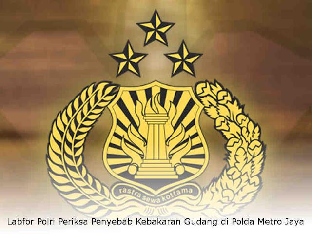 Labfor Polri Periksa Penyebab Kebakaran Gudang di Polda Metro Jaya