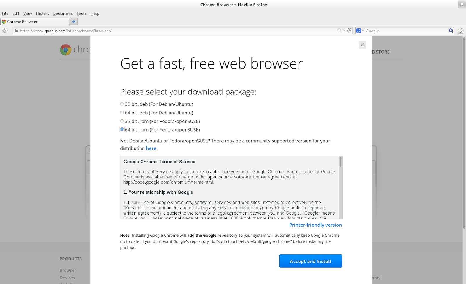 TechnoZeal: Install Google Chrome on Fedora 18
