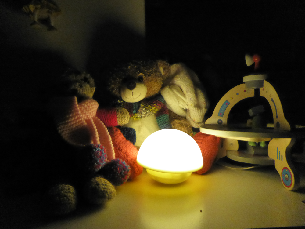 Night light and toys