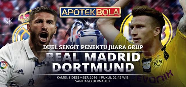 Prediksi Pertadningan Real Madrid vs Borussia Dortmund 8 Desember 2016