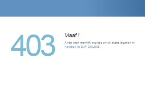 djp online tidak bisa diakses server pajak down