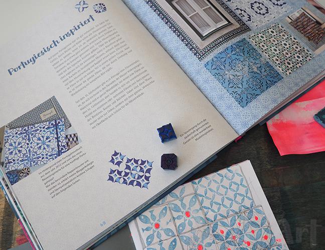 Portugiesische Muster, Bunte Bücher nach ©muellerinart
