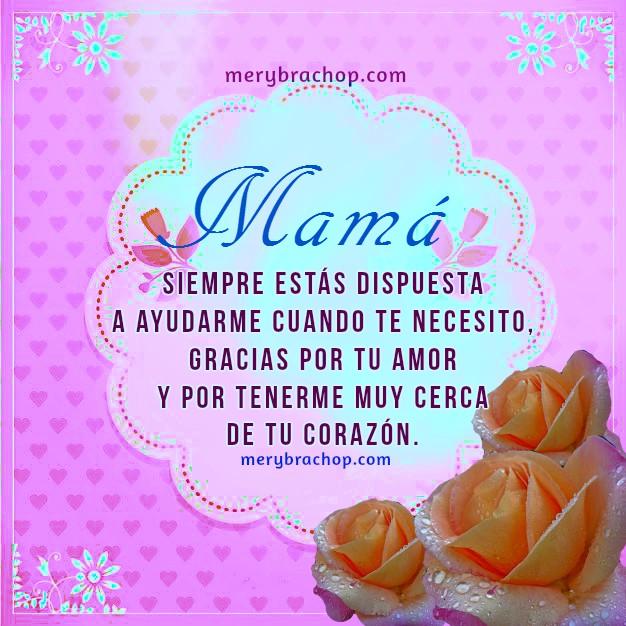 saludo, tarjeta con frases de gracias madre lindo agradecimiento por Mery Bracho