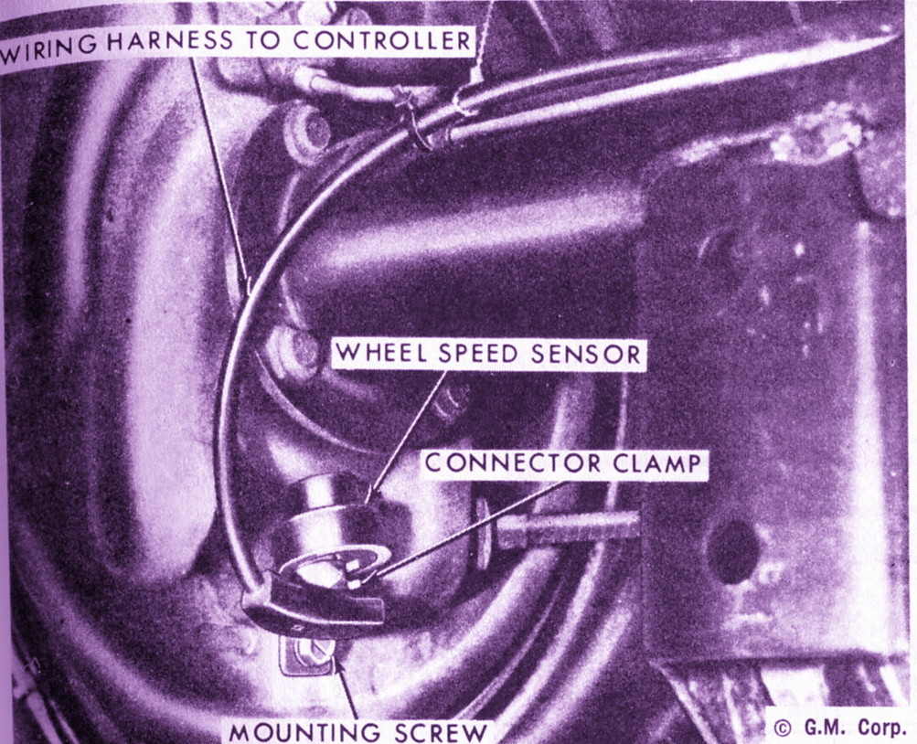 Phscollectorcarworld June 2017 Toyota 22r Carburetor Diagram Ponycars There Are Supposed To Be Wheel Speed Sensors At The Rear Brake Assembly And A Wire Lead Controller For Track Master System