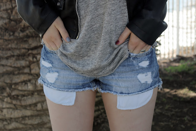 perfect distressed shorts